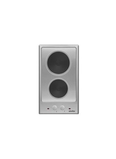 Simfer Simfer 3050 2HP Ankastre Inox 2 Gözü Hotplateli Domino Renkli Ocak Renkli